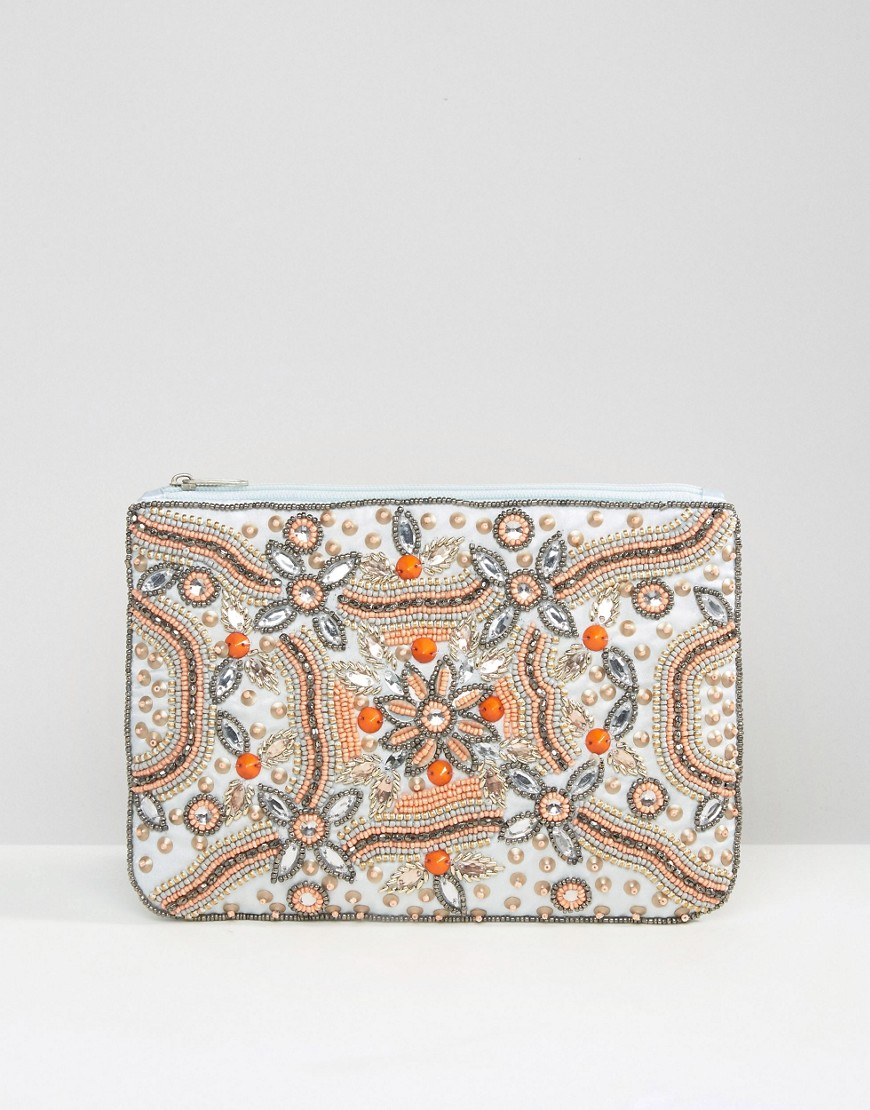 True Decadence - Pochette con zip e decorazioni - Multicolore