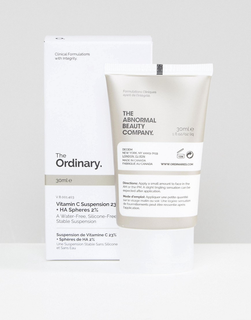 The Ordinary - Sospensione di vitamina C 23% + Sfere di acido ialuronico 2% da 30 ml - Nessun colore