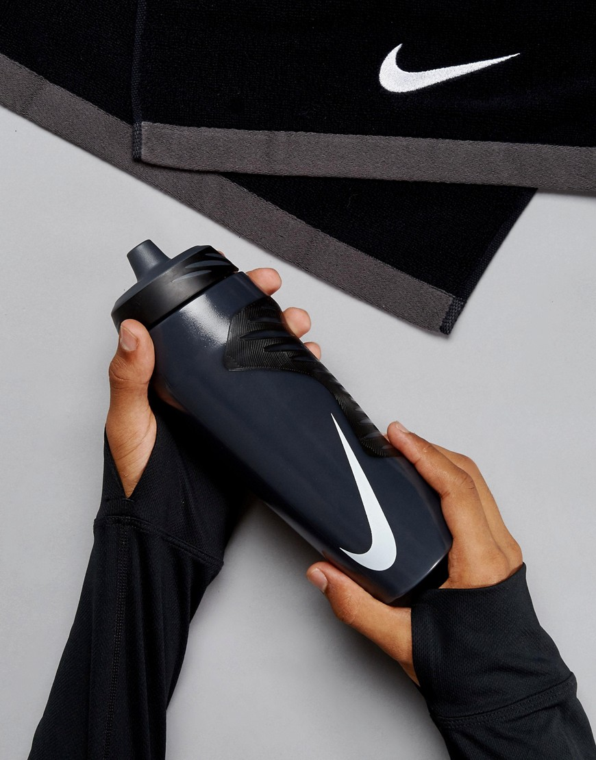 Nike Training - Hyperfuel OB.A6.24-018A - Borraccia da 680 ml nera - Grigio