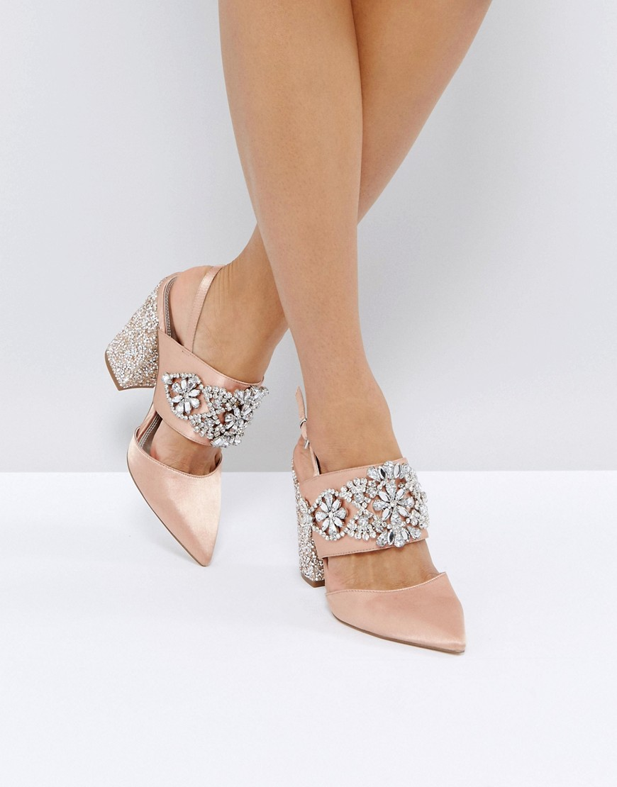 ASOS - PERFECT COMBO - Scarpe con tacco decorate - Beige