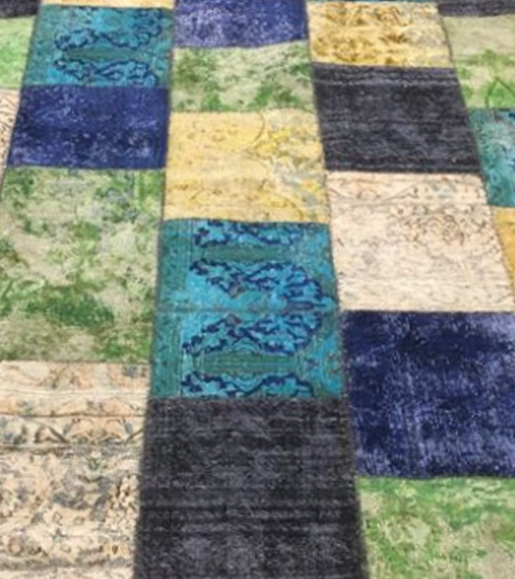 Tappeto patchwork aquacolor 2