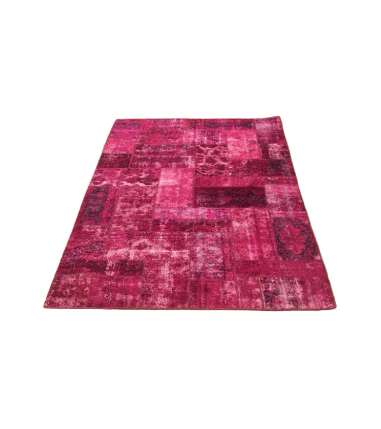 Tappeto patchwork colore magenta 305 x 205