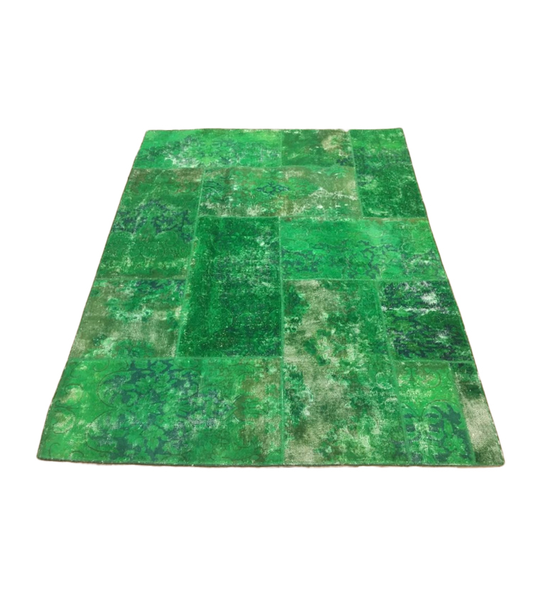 Tappeto patchwork verde 240 x 170