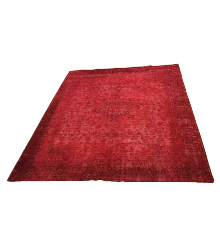 Tappeto vintage rosso  377 x 289