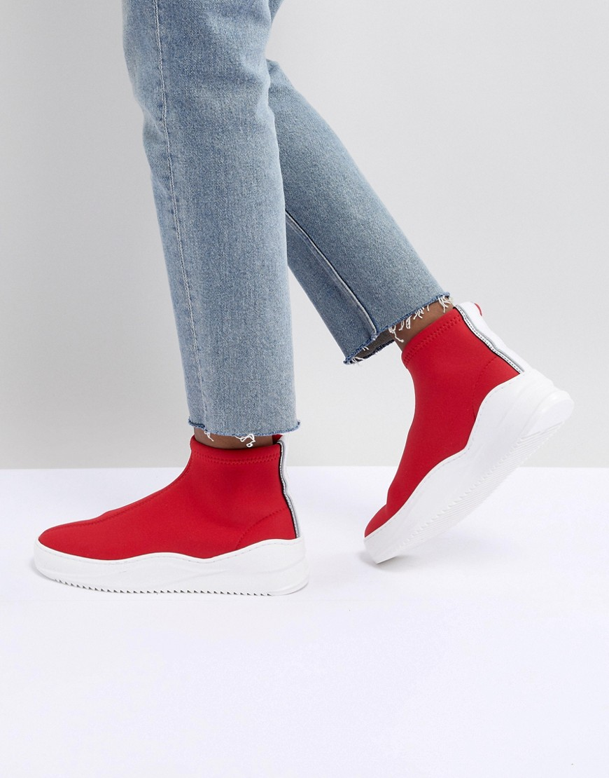 Bronx - Sneakers rosse aderenti - Rosso