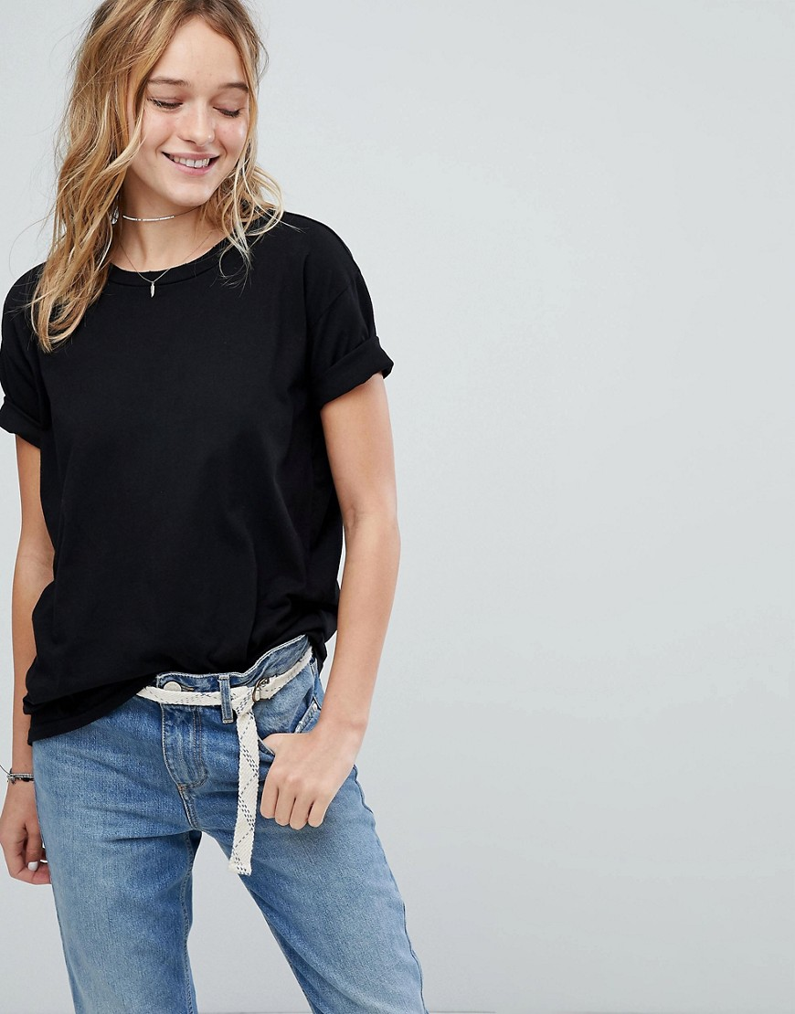 Hollister - T-shirt boyfriend - Nero