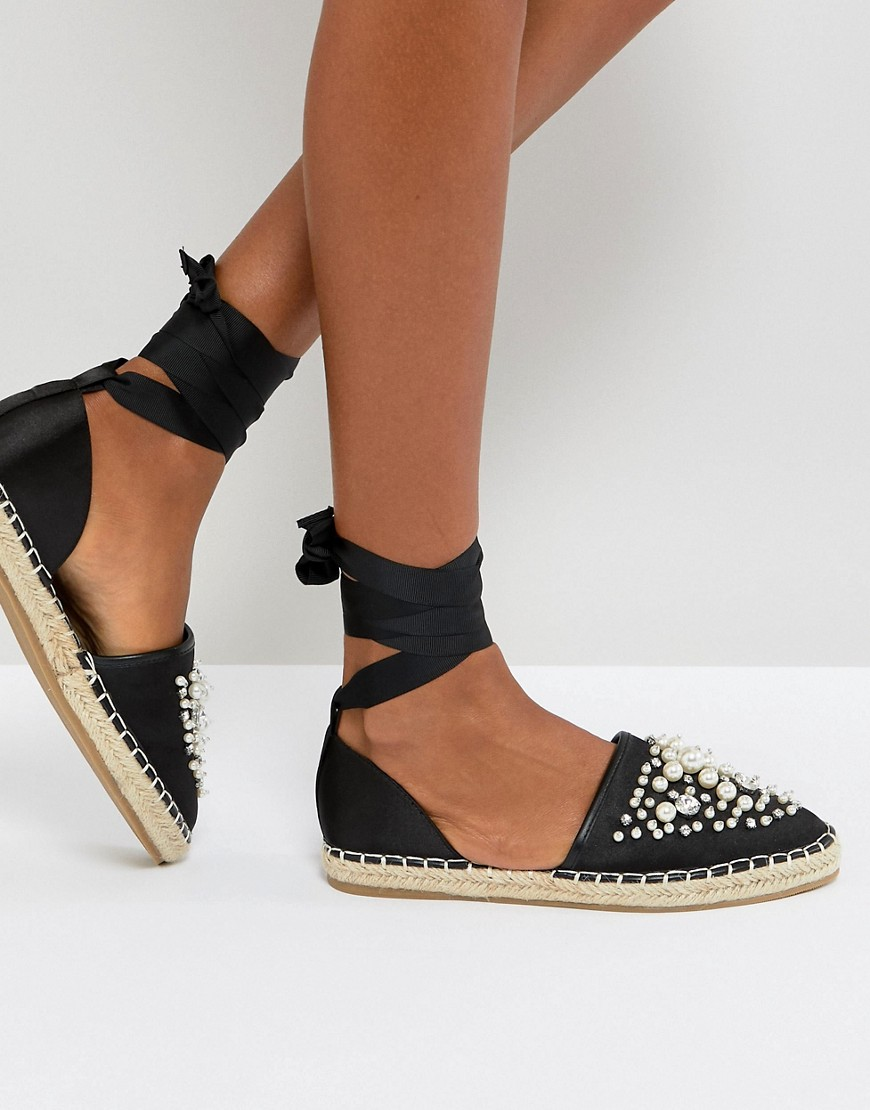 ASOS - JULETA - Espadrilles decorate - Nero