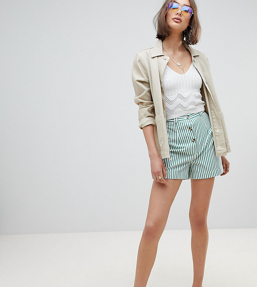 Reclaimed Vintage Inspired - Mom shorts a righe - Multicolore