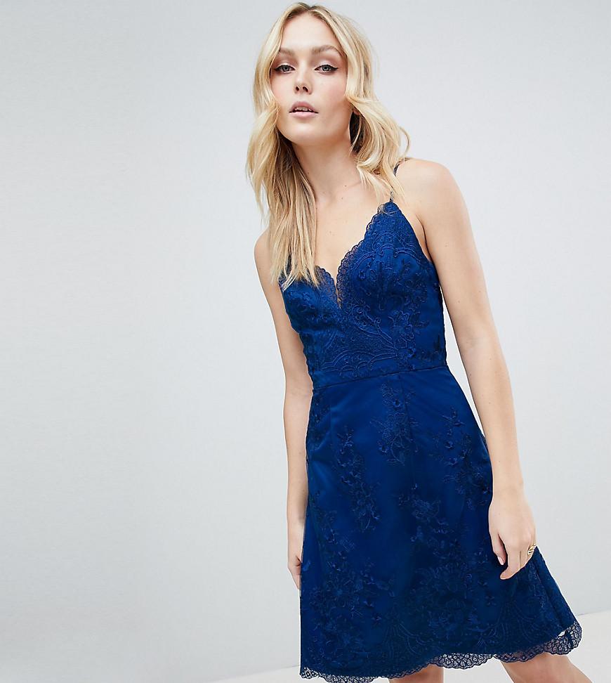 Chi Chi London Tall - Vestitino in pizzo premium - Navy
