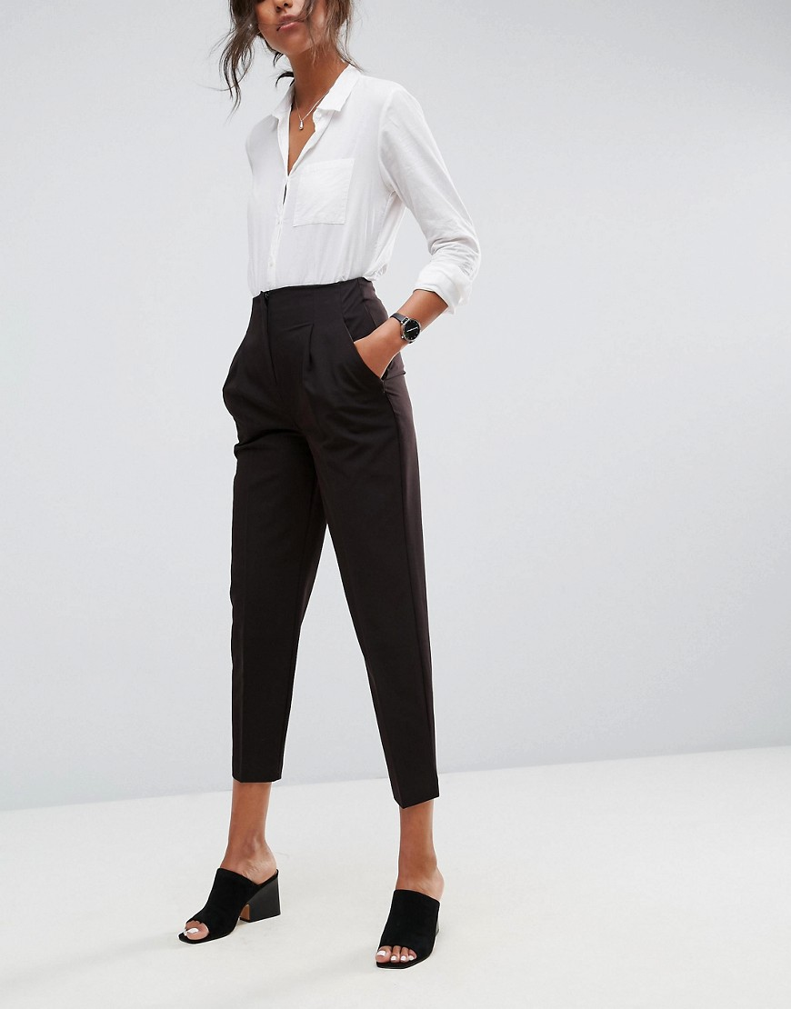 ASOS DESIGN - Mix & Match - Pantaloni a sigaretta - Nero