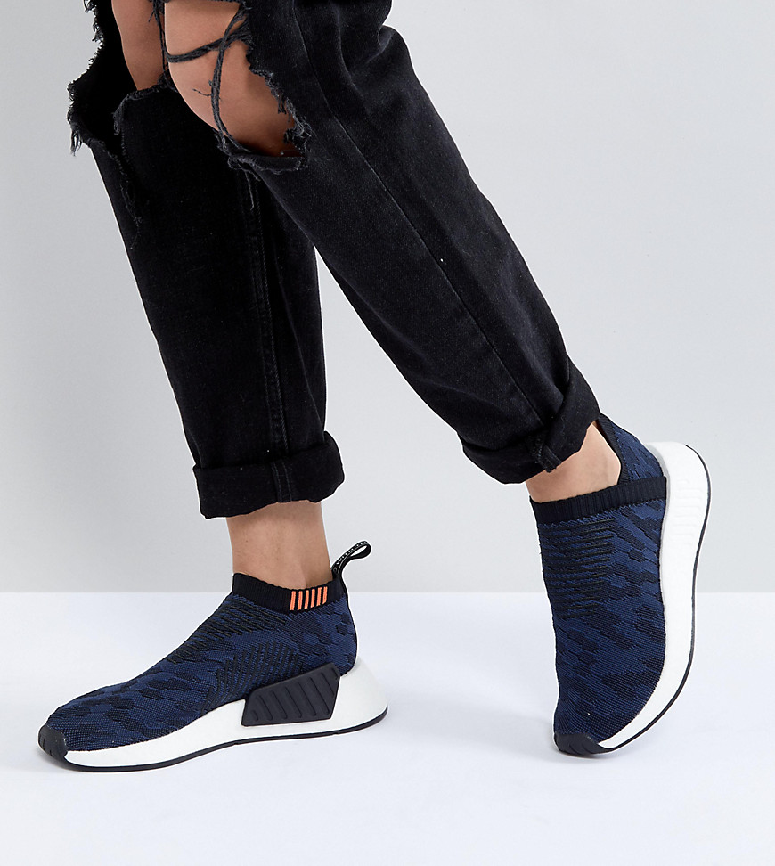 adidas Originals NMD - Cs2 Shadow - Sneakers in maglia blu navy - Navy